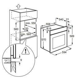 Электрический духовой шкаф Zanussi ZZB525601X