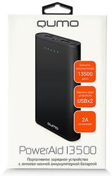 Портативный аккумулятор Qumo PowerAid 13500 черный