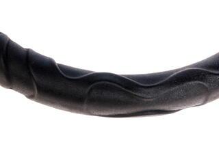Оплетка на руль SkyWay Люкс (LUX-27737BK) черный