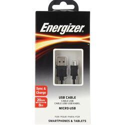 Кабель Energizer Classic micro USB - USB черный