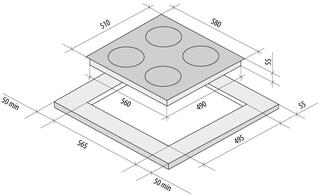 Электрическая варочная поверхность Fornelli PV 6012 FRESCO