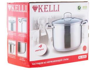 Кастрюля Kelli KL-4235 серебристый