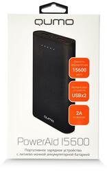 Портативный аккумулятор Qumo PowerAid 15600 черный