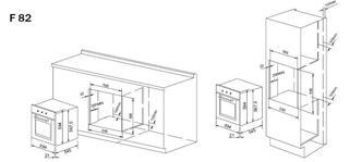 Электрический духовой шкаф Pyramida F 82 BURGUNDY