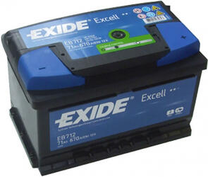 Автомобильный аккумулятор EXIDE EXCELL EB712