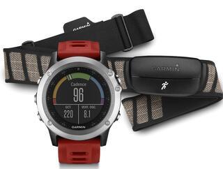 Спортивные часы Garmin fenix 3 HRM - Run серебристый