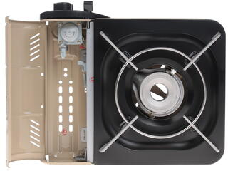Газовая плитка NaMilux NA-161 PF черный, бежевый