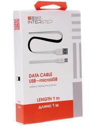 Кабель InterStep USB - micro USB черный, белый