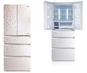 Холодильник с морозильником LG GC-B40BSGMD белый