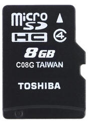 Карта памяти Toshiba SD-C08GJ microSDHC 8 Гб