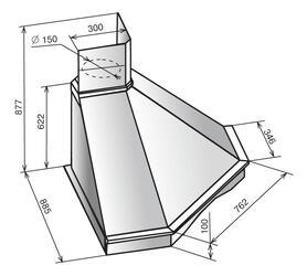 Вытяжка каминная Elikor Форест 90П-650-П3Г бежевый