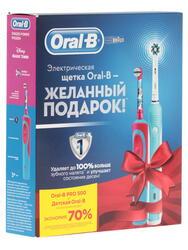 Набор электрических зубных щеток Braun Family Pack (Oral-B PC 500 D16.513 + Oral-B Frozen Vitality Kids)