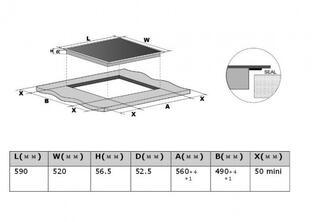 Электрическая варочная поверхность Midea MC-IF7021B2-RW