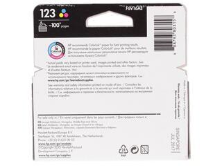 Картридж струйный HP 123 (F6V16AE)