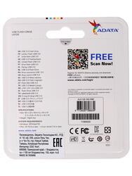 Память USB Flash AData DashDrive UV128 AUV128-16G-RBE 16 Гб