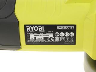 Углошлифовальная машина Ryobi RAG800-125G