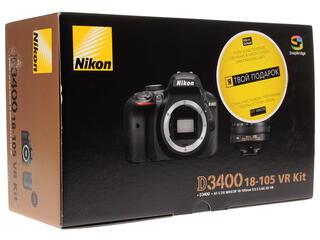 Зеркальная камера Nikon  D3400 Kit 18-105mm VR черный