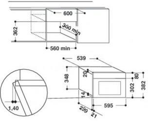 Встраиваемая микроволновая печь Whirlpool AMW 730/IX серебристый