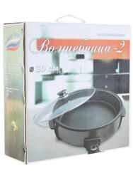 Электросковорода Великие реки Волшебница-2 черный, серый