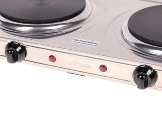 Плитка электрическая Supra HS-210 серебристый