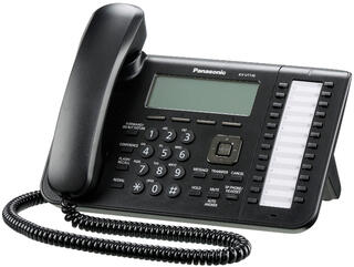 IP-телефон PANASONIC KX-UT136RU-B черный