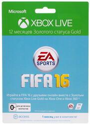 Карта оплаты подписки Xbox LIVE: 12 мес. + EA 1 мес