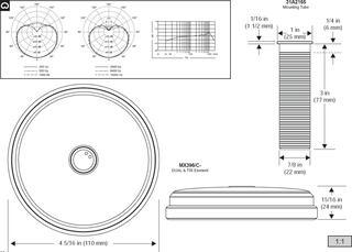 Микрофон Shure MX396/C-TRI