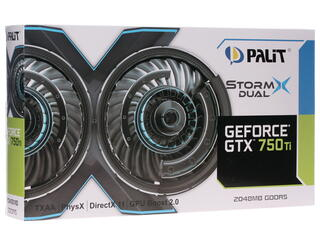 Видеокарта Palit GeForce GTX 750 Ti StormX DUAL [NE5X75TTHD41-XXXXF]
