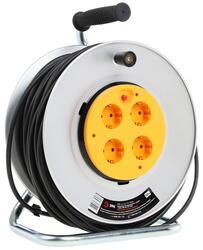 Удлинитель силовой ЭРА RM-4-3x1.5-50m-IP44 серый