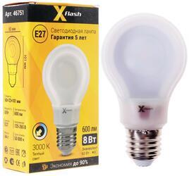 Лампа светодиодная X-Flash XF-E27-FTL-A60-P-8W-3000K-220V