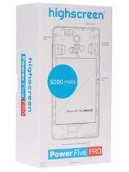 "5"" Смартфон Highscreen Power Five PRO 16 Гб белый"