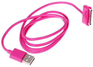 Кабель InterStep USB - 30-pin розовый