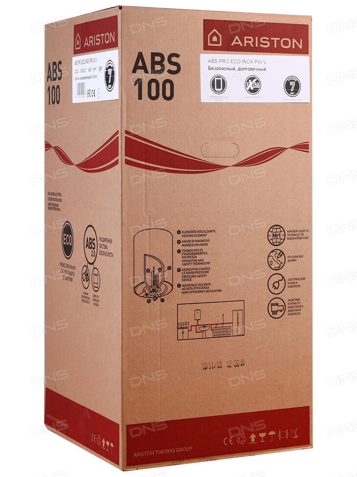 Аристон abs pro eco 100v инструкция