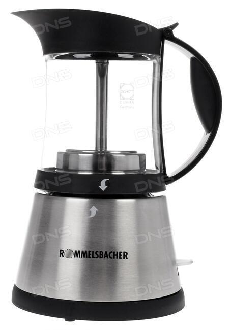 Кофеварка Rommelsbacher EKO 376/G 365 Вт черно-серебристый EKO 376/G