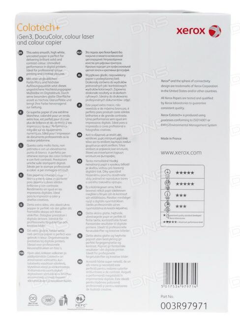 Бумага XEROX Colotech Plus Silk Coated A3 003R90371 280г/м2 250 листов