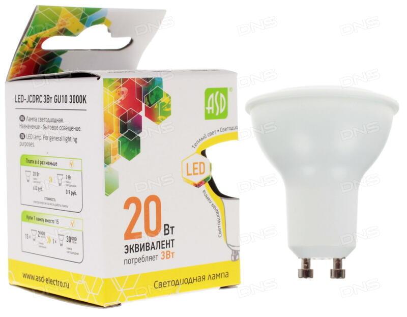 Лампа светодиодная asd led jcdrc standard