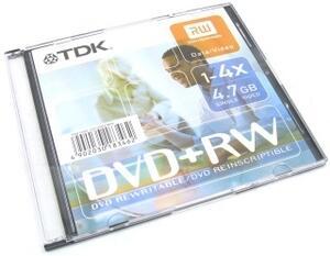 Диск  DVD-RW 4.7Gb Slim Case (TDK)  4x