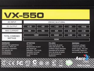 Блок питания Aerocool VX-550 [VX-550]