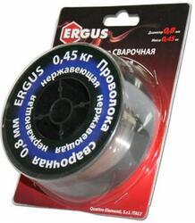 Проволока сварочная ERGUS нержавеющая, 0,8 мм, масса 0,45 кг, блистер