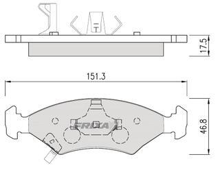 Тормозные колодки Hankook Frixa FPK03