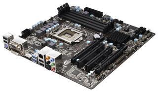 Плата ASRock LGA1155 B75 Pro3-M 4xDDR3-1600 2xPCI-E(16+4) HDMI/DVI/DSub 8ch 5xSATA 3xSATA3 2xUSB3 GLAN  mATX
