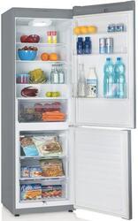 Холодильник с морозильником Candy CKBS 6200 S серебристый