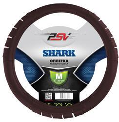 Оплетка на руль PSV SHARK бордовый