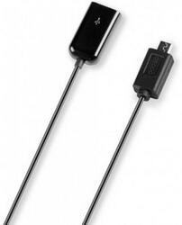 Кабель OTG Deppa USB-host - micro USB черный