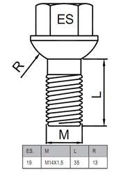 Болты-секретки HEYNER AL3 42561