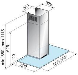 Вытяжка каминная Korting KHC 6971 X серебристый