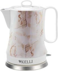 Электрочайник Kelli KL-1460 белый, коричневый