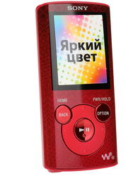 Мультимедиа плеер Sony NWZ-E383 красный