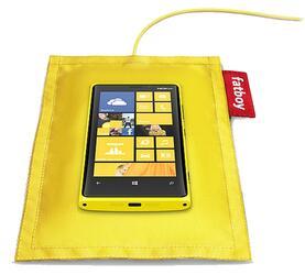 Беспроводное зарядное устройство Nokia Fatboy DT-901 Желтое