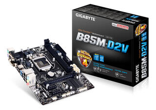 Плата Gigabyte GA-B85M-D2V Socket-1150 Intel B85 DDR3 mATX AC`97 8ch(7.1) GbLAN SATA3 VGA+DVI USB3.0
